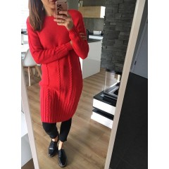 Svetrové šaty Dara - Malina