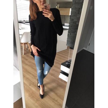 Svetrové šaty Dara - černá