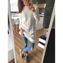 Svetrové šaty Dara - krémová