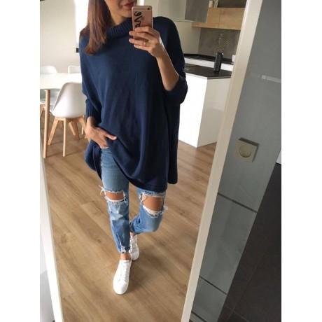 Oversize svetr Charlotte - modrá