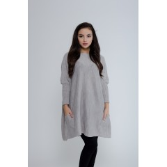 Oversize svetr Yollo - šedá