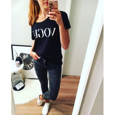 Tričko VOGUE černé