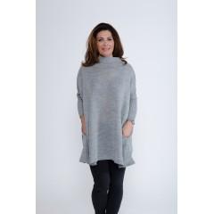 Oversize svetr Charlotte - šedá